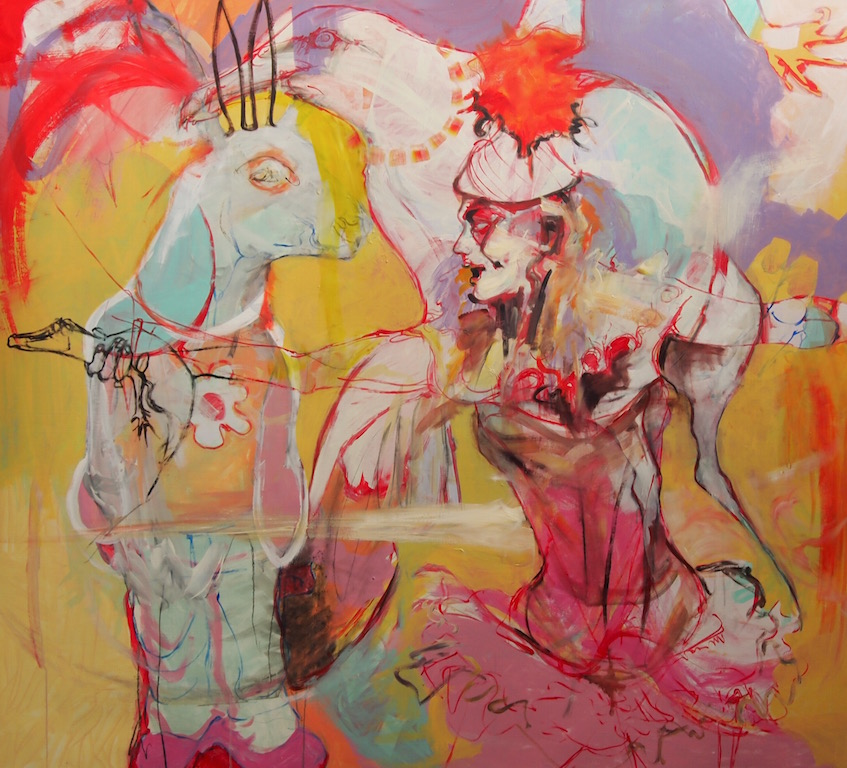 Untitled (circus girl and animals), 2012