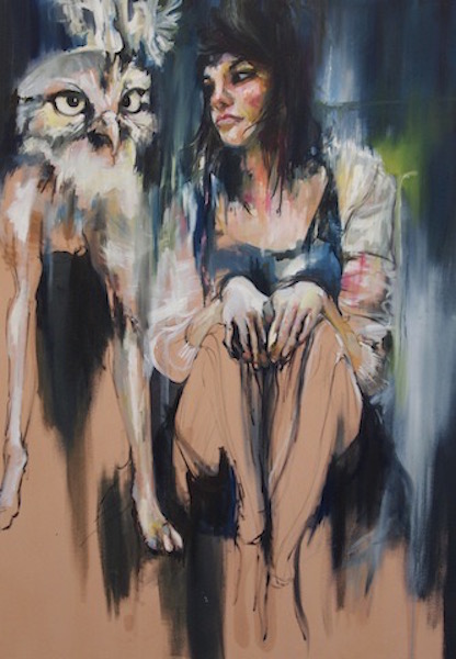 Margaux and the owl dog, 2011